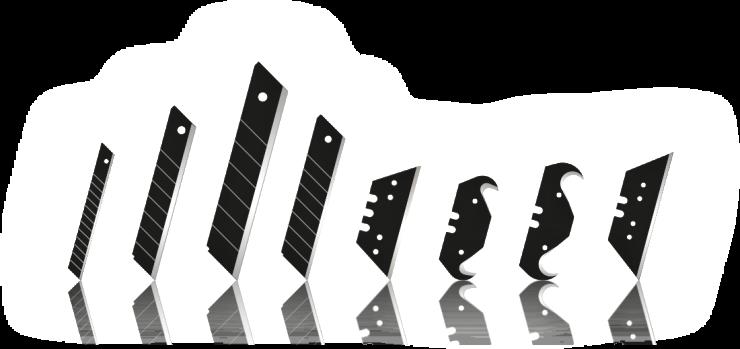 lames de cutters noires tranchantes